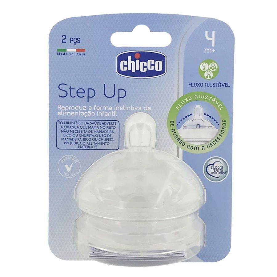 Bico Para Mamadeira Step Up 4m+ Chicco – 2un