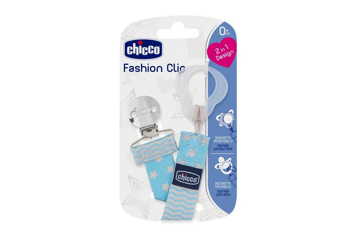 Prendedor de Chupeta Fashion 2em1 Azul – Chicco