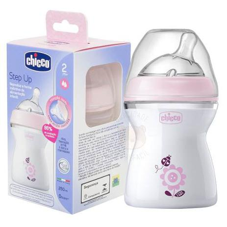 Mamadeira Step Up 2m+ 250ml Rosa – Chicco